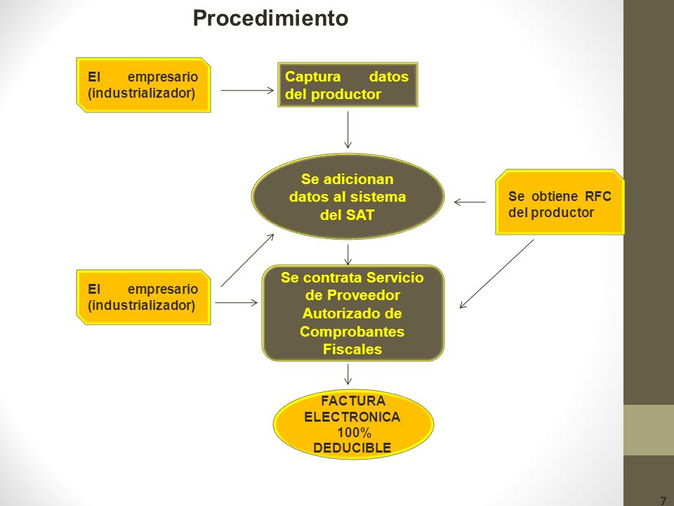 Procedimiento Captura datos del productor