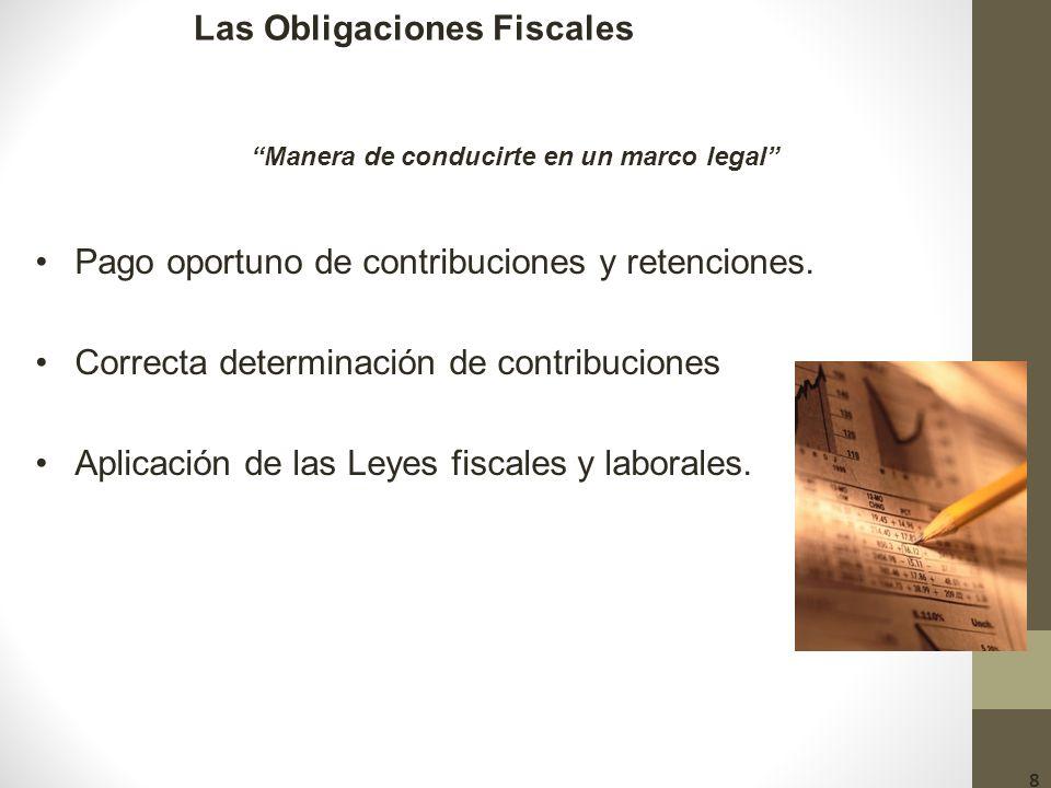 Las Obligaciones Fiscales Manera de conducirte en un marco legal