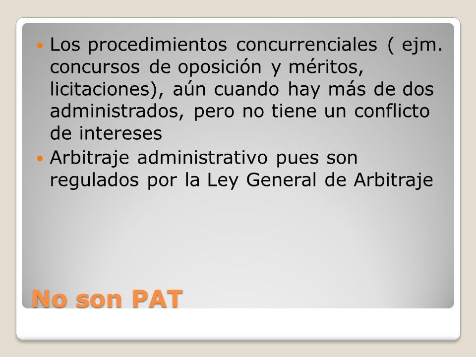 Los procedimientos concurrenciales ( ejm