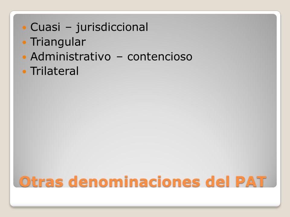 Otras denominaciones del PAT