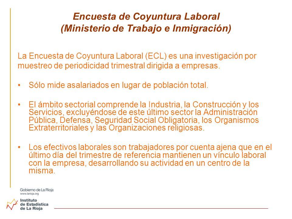 Encuesta de Coyuntura Laboral (Ministerio de Trabajo e Inmigración)