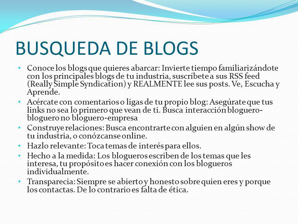 BUSQUEDA DE BLOGS