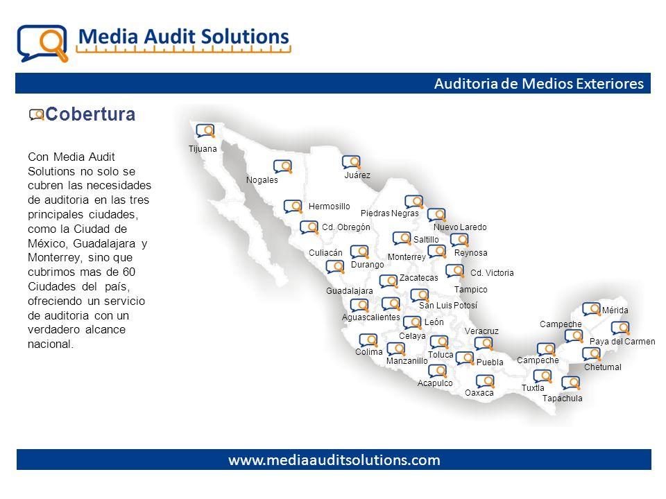 Cobertura Auditoria de Medios Exteriores www.mediaauditsolutions.com