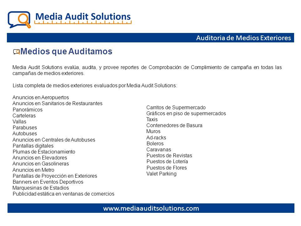 Medios que Auditamos Auditoria de Medios Exteriores