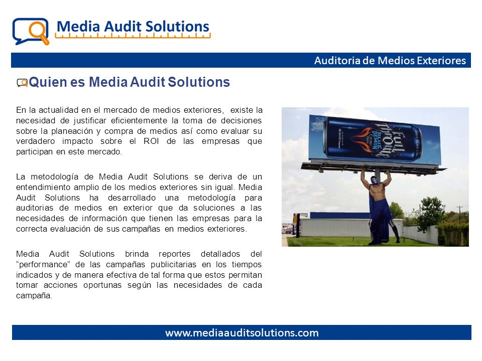 Quien es Media Audit Solutions