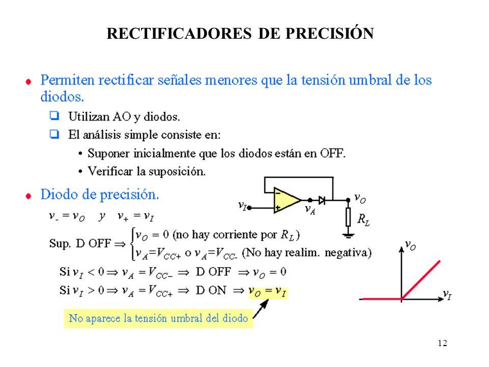 RECTIFICADORES DE PRECISIÓN