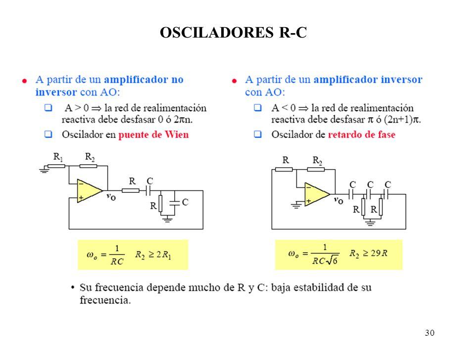 OSCILADORES R-C