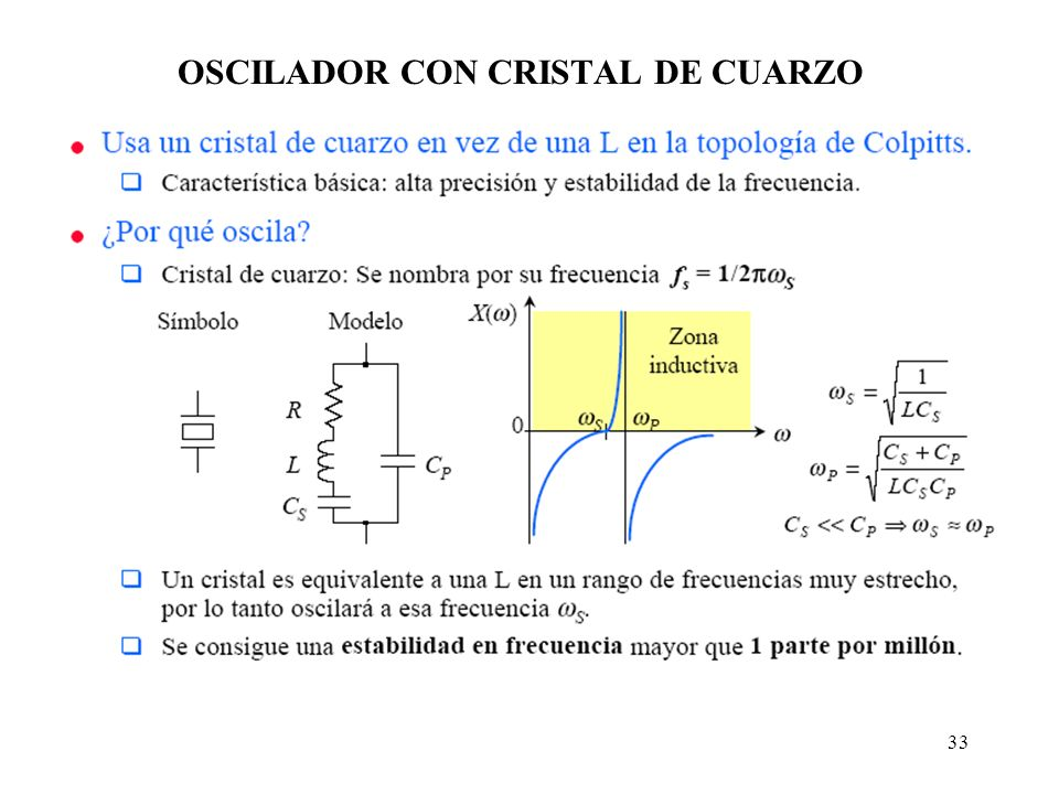 OSCILADOR CON CRISTAL DE CUARZO