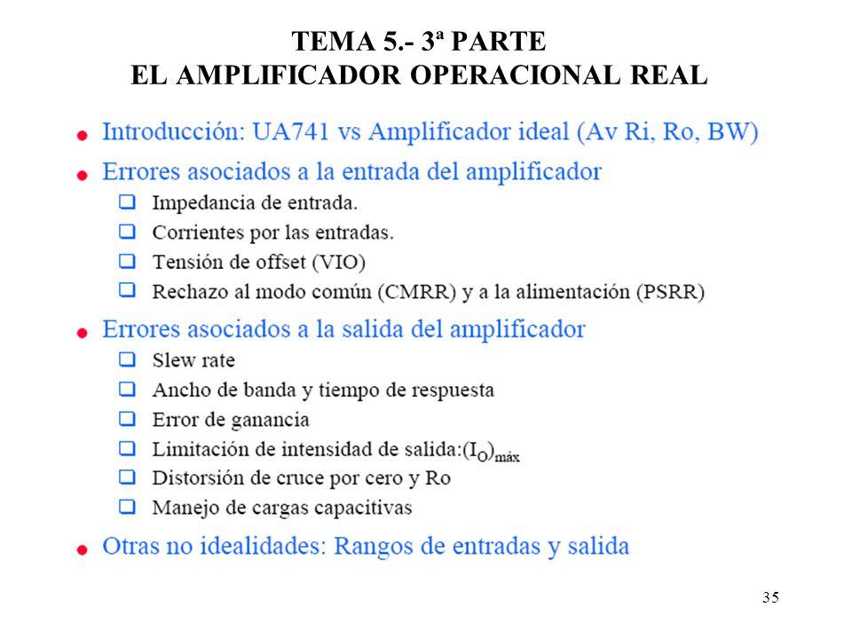 TEMA 5.- 3ª PARTE EL AMPLIFICADOR OPERACIONAL REAL