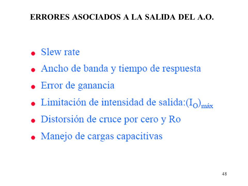 ERRORES ASOCIADOS A LA SALIDA DEL A.O.