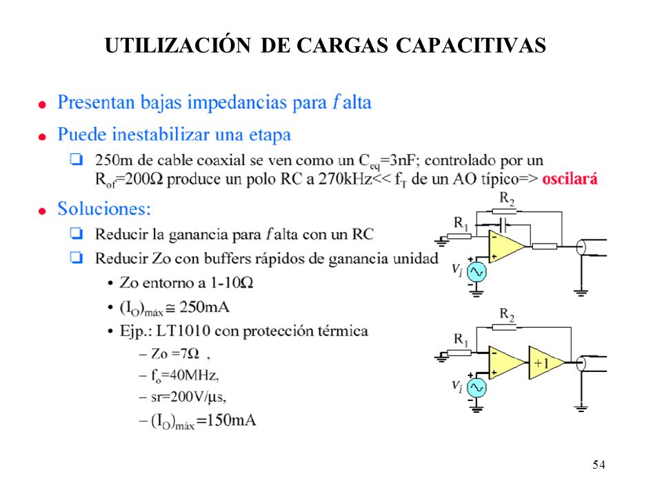 UTILIZACIÓN DE CARGAS CAPACITIVAS