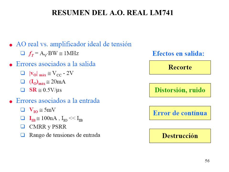RESUMEN DEL A.O. REAL LM741