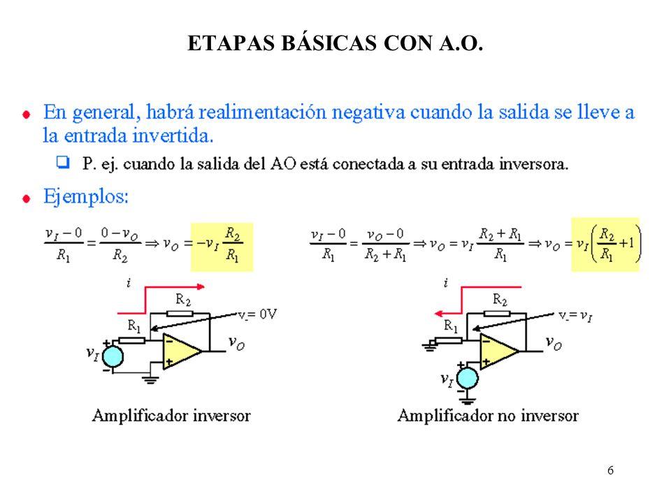 ETAPAS BÁSICAS CON A.O.