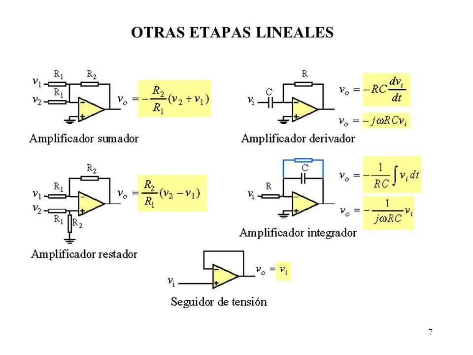 OTRAS ETAPAS LINEALES