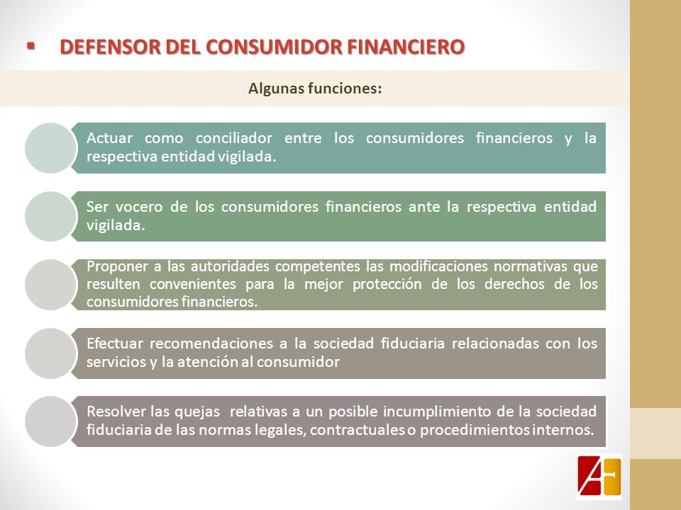 DEFENSOR DEL consumidor financiero