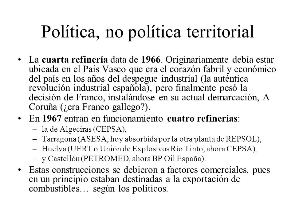 Política, no política territorial