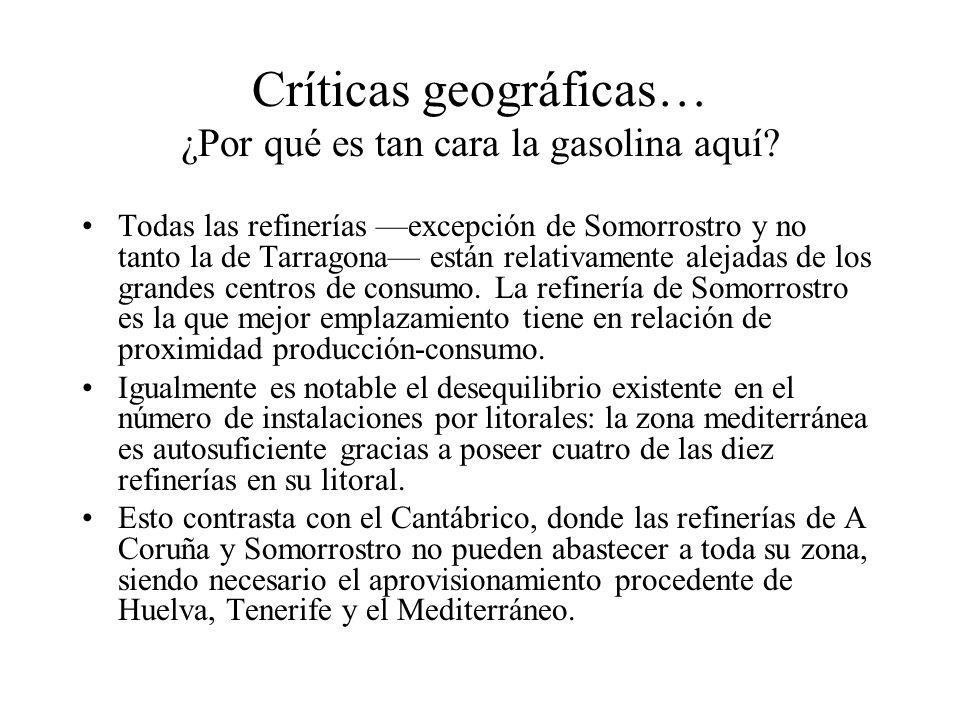 Críticas geográficas… ¿Por qué es tan cara la gasolina aquí