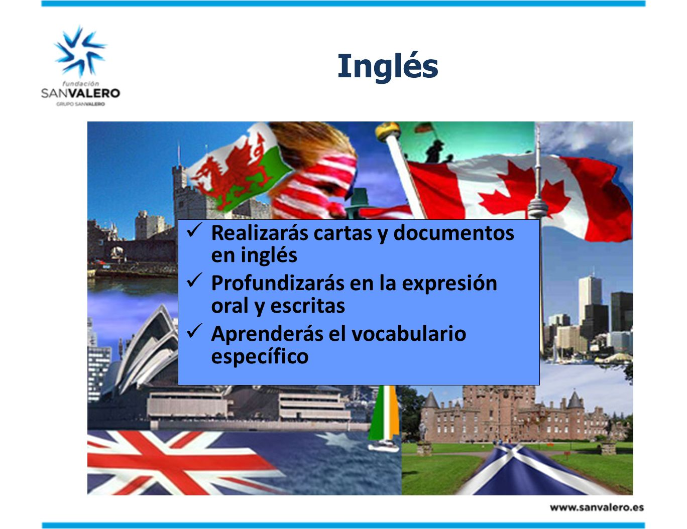 Inglés Realizarás cartas y documentos en inglés