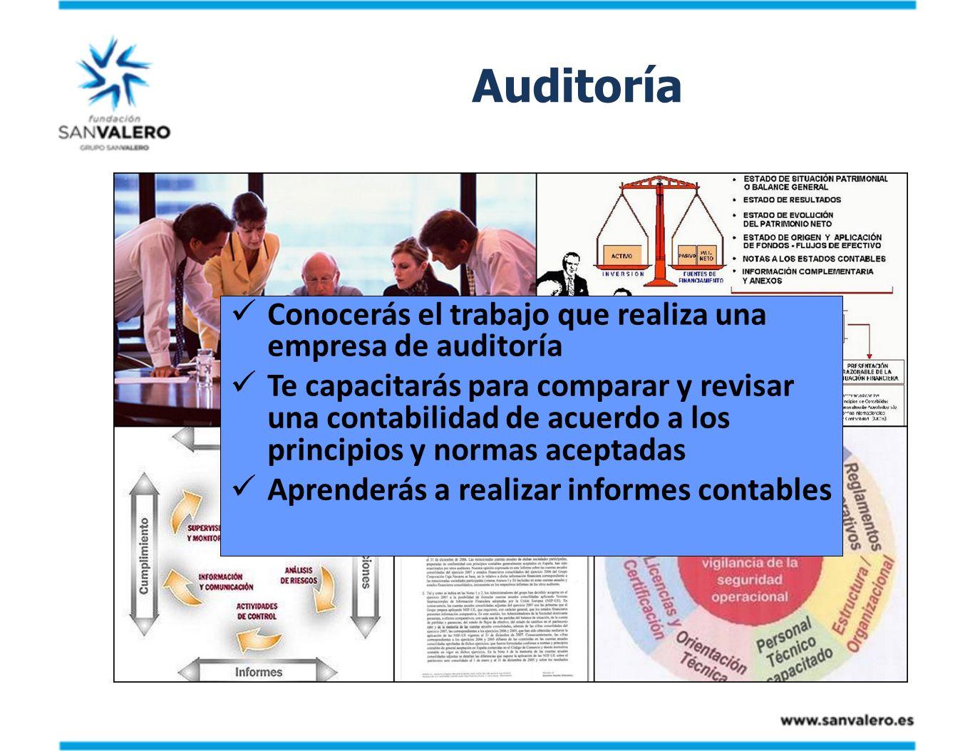 Auditoría Conocerás el trabajo que realiza una empresa de auditoría