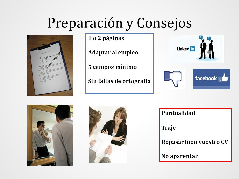 Preparación y Consejos