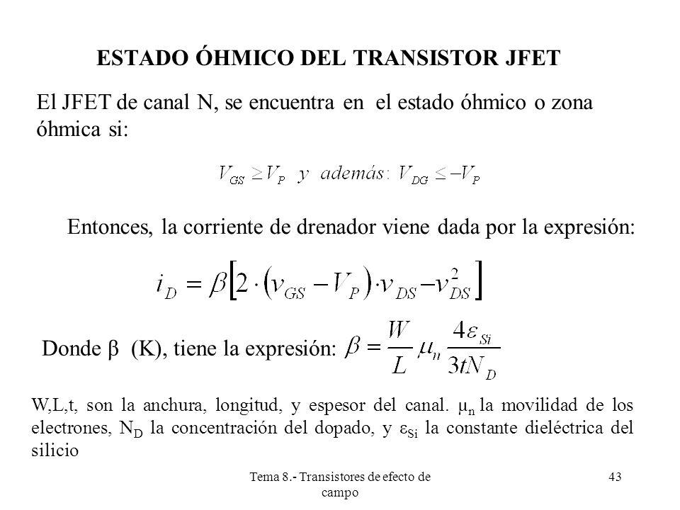 ESTADO ÓHMICO DEL TRANSISTOR JFET