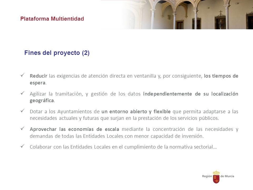 Fines del proyecto (2) Plataforma Multientidad