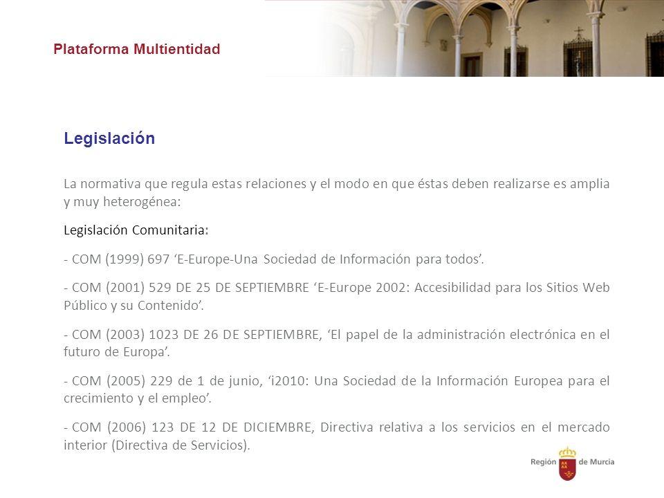 Legislación Plataforma Multientidad