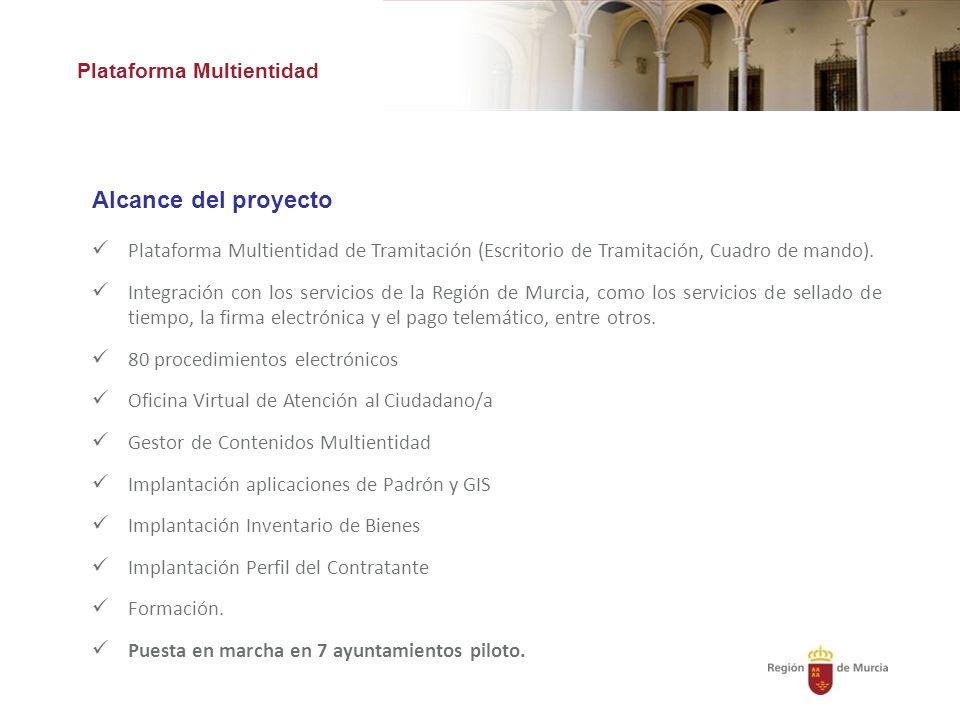 Alcance del proyecto Plataforma Multientidad