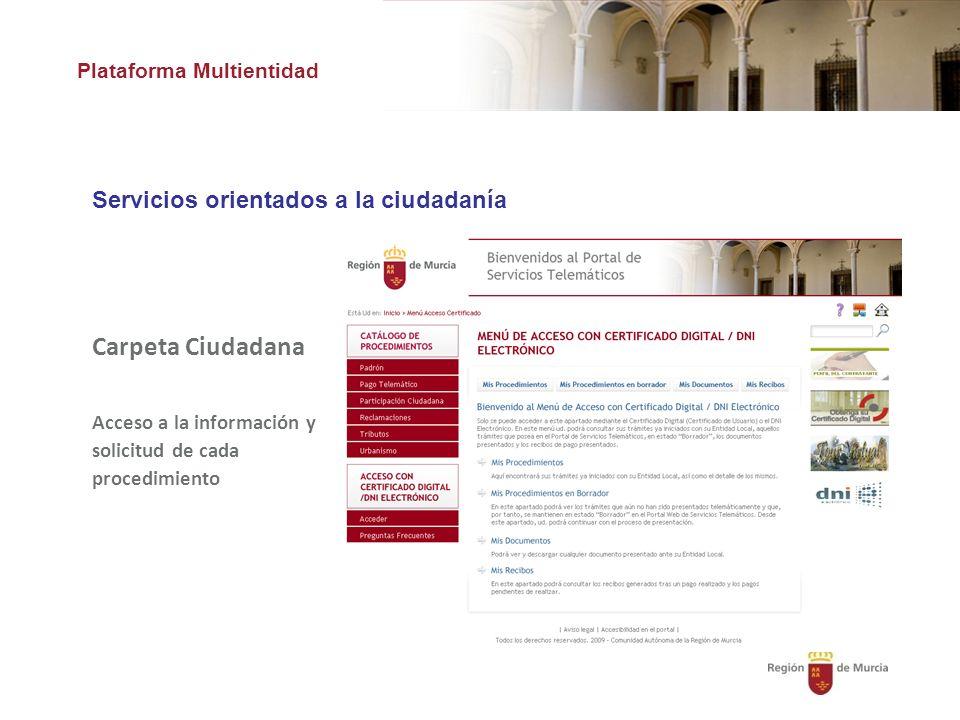 Carpeta Ciudadana Servicios orientados a la ciudadanía