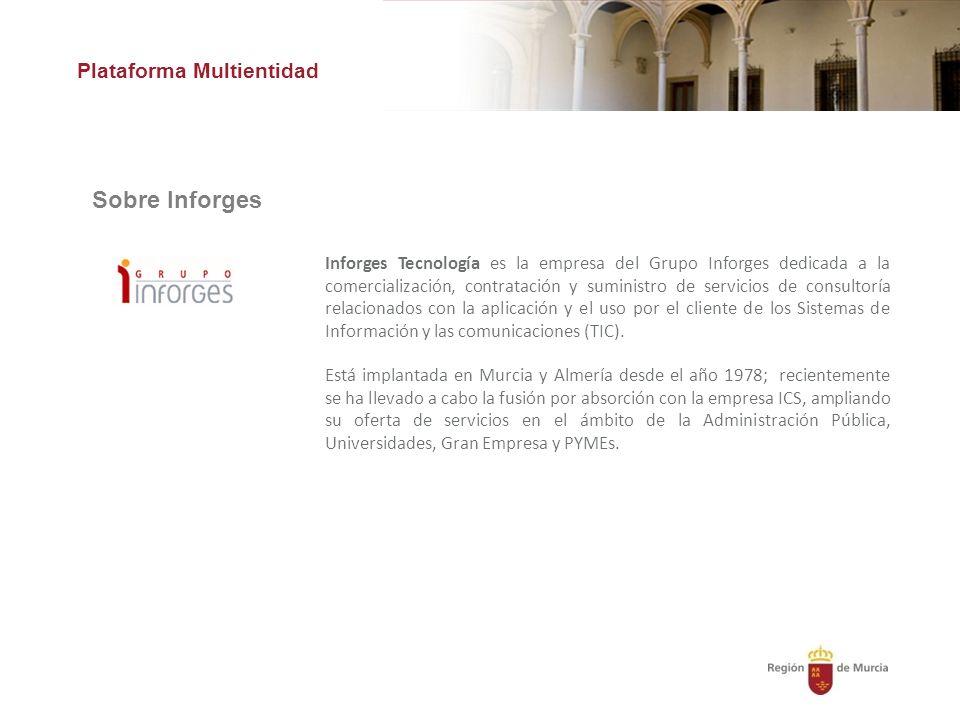 Sobre Inforges Plataforma Multientidad