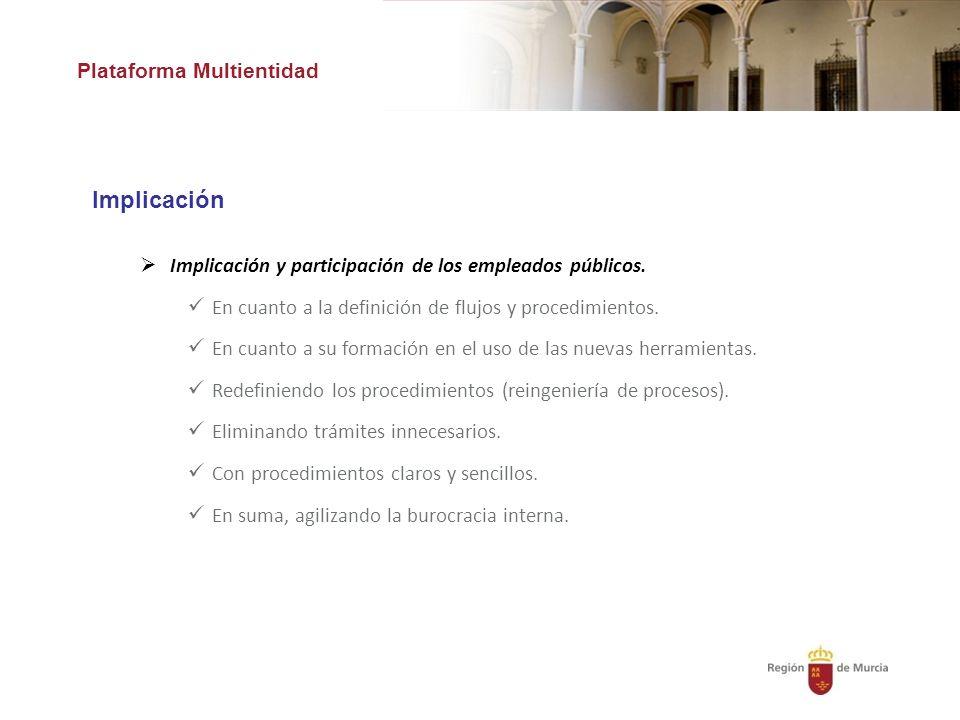 Implicación Plataforma Multientidad