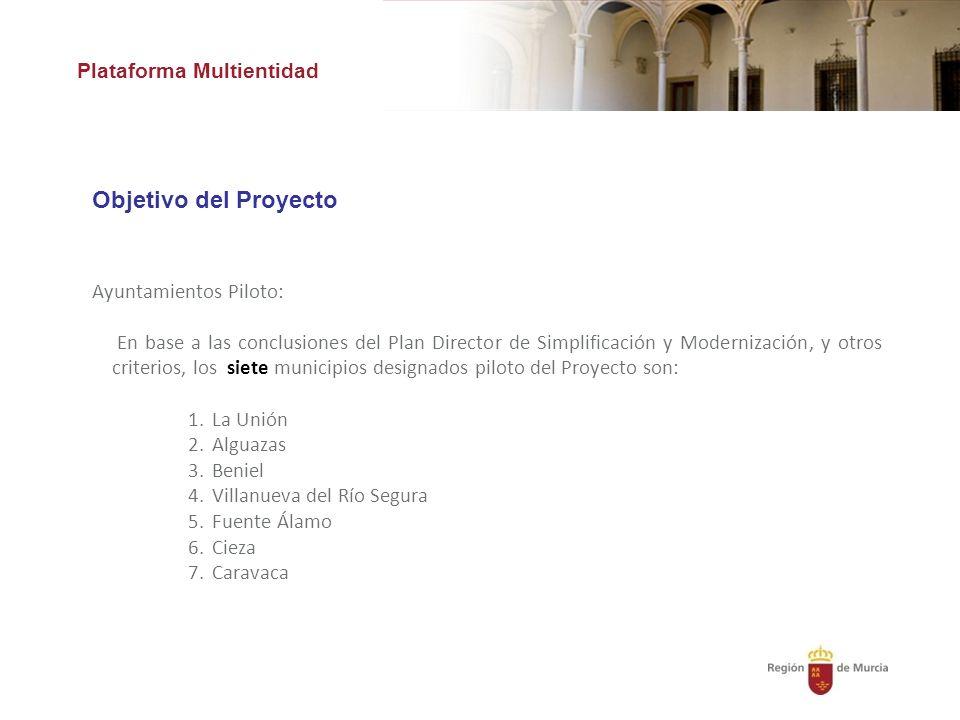 Objetivo del Proyecto Plataforma Multientidad Ayuntamientos Piloto: