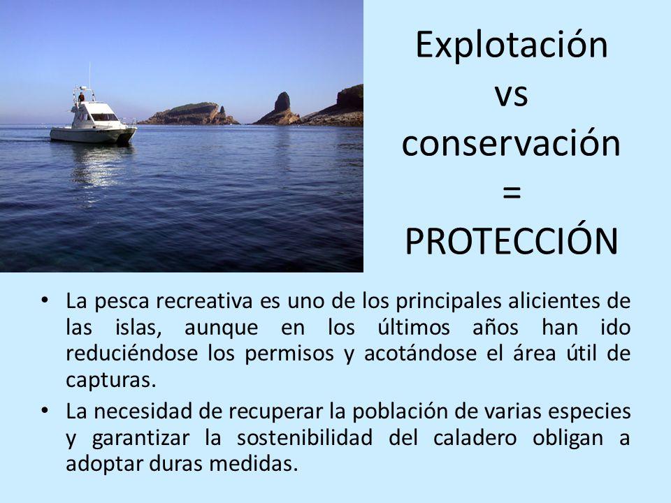 Explotación vs conservación = PROTECCIÓN