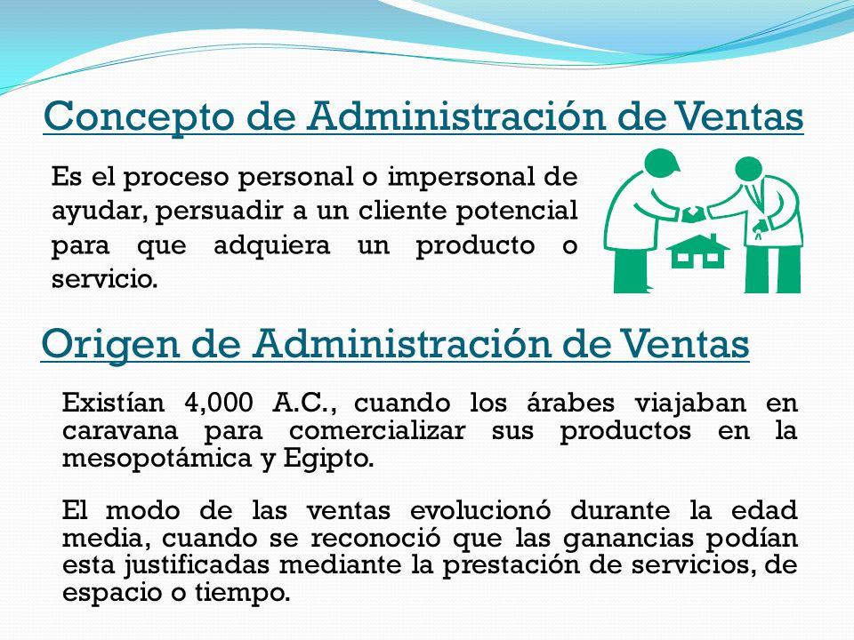 Concepto de Administración de Ventas
