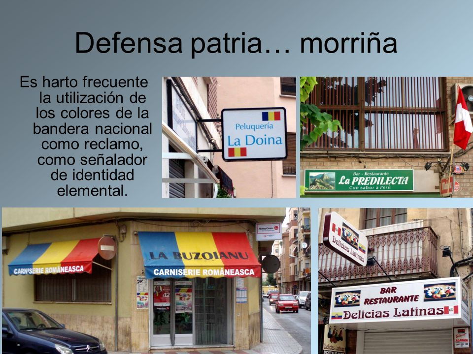 Defensa patria… morriña
