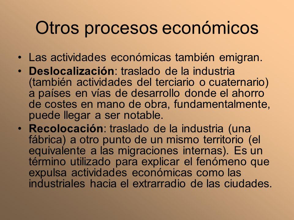 Otros procesos económicos