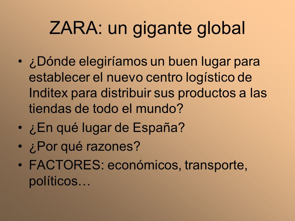ZARA: un gigante global