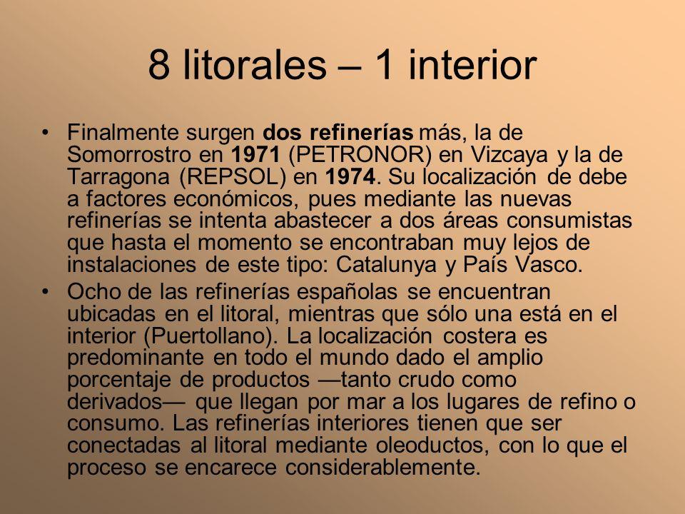 8 litorales – 1 interior