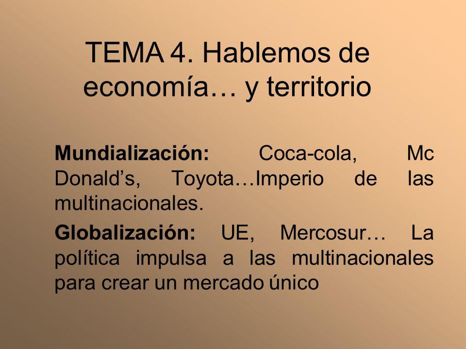 TEMA 4. Hablemos de economía… y territorio