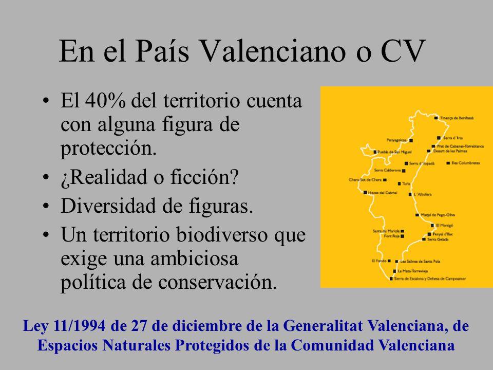 En el País Valenciano o CV