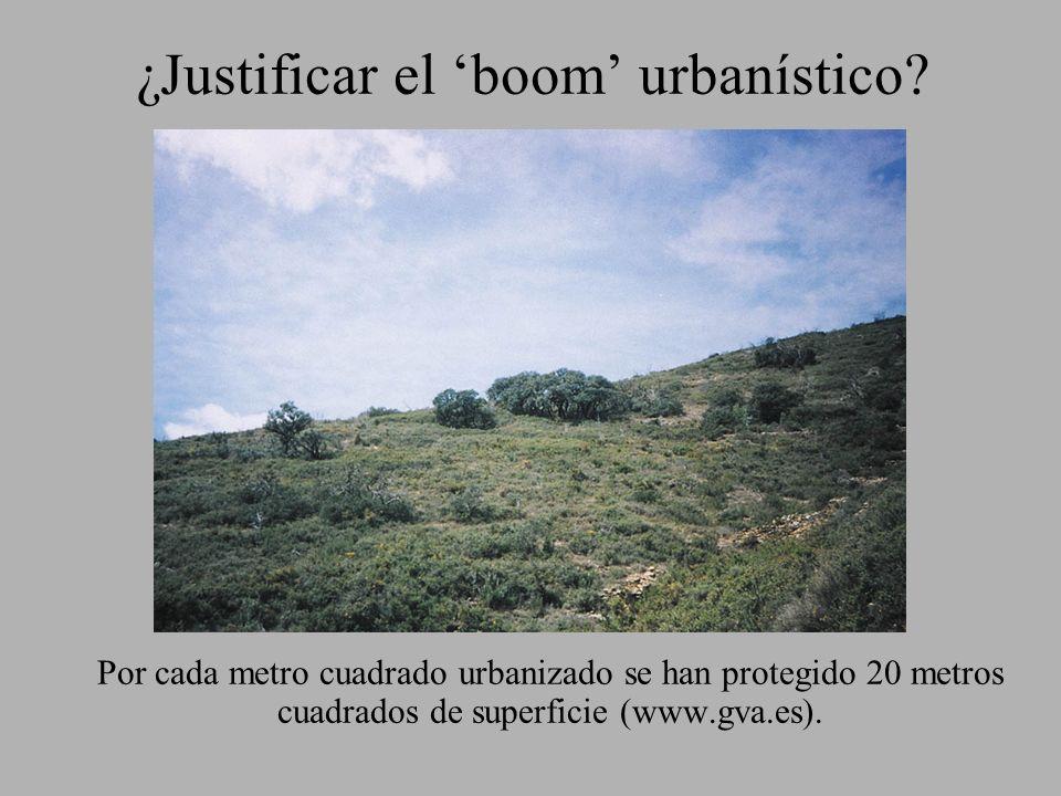 ¿Justificar el 'boom' urbanístico