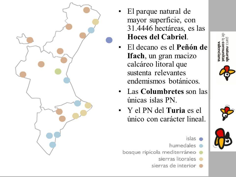 El parque natural de mayor superficie, con 31