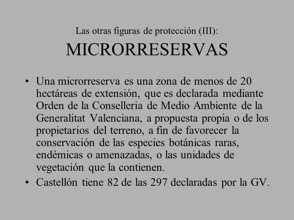 Las otras figuras de protección (III): MICRORRESERVAS