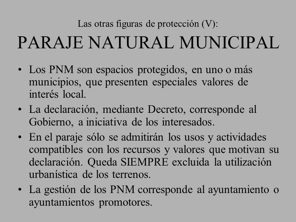 Las otras figuras de protección (V): PARAJE NATURAL MUNICIPAL