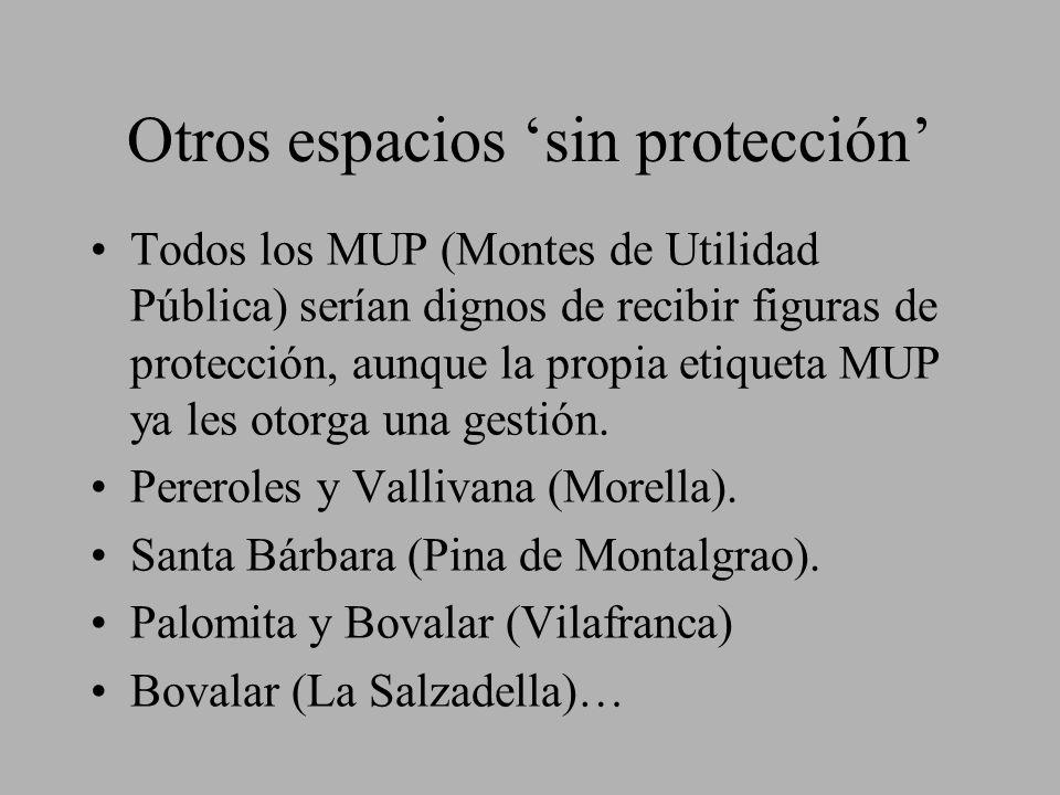 Otros espacios 'sin protección'