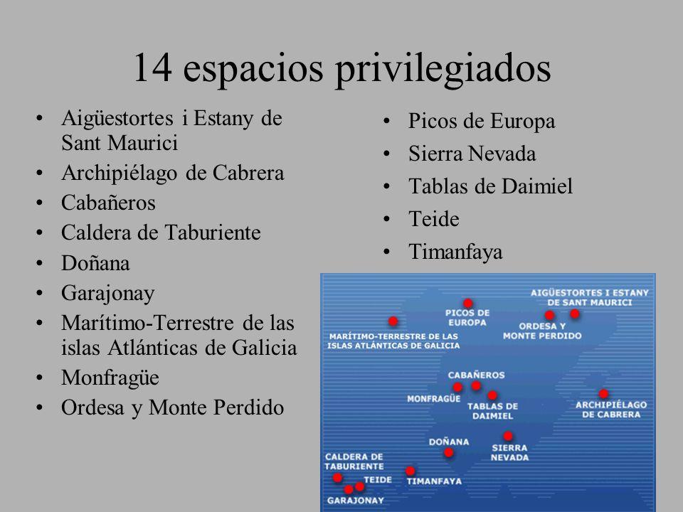 14 espacios privilegiados