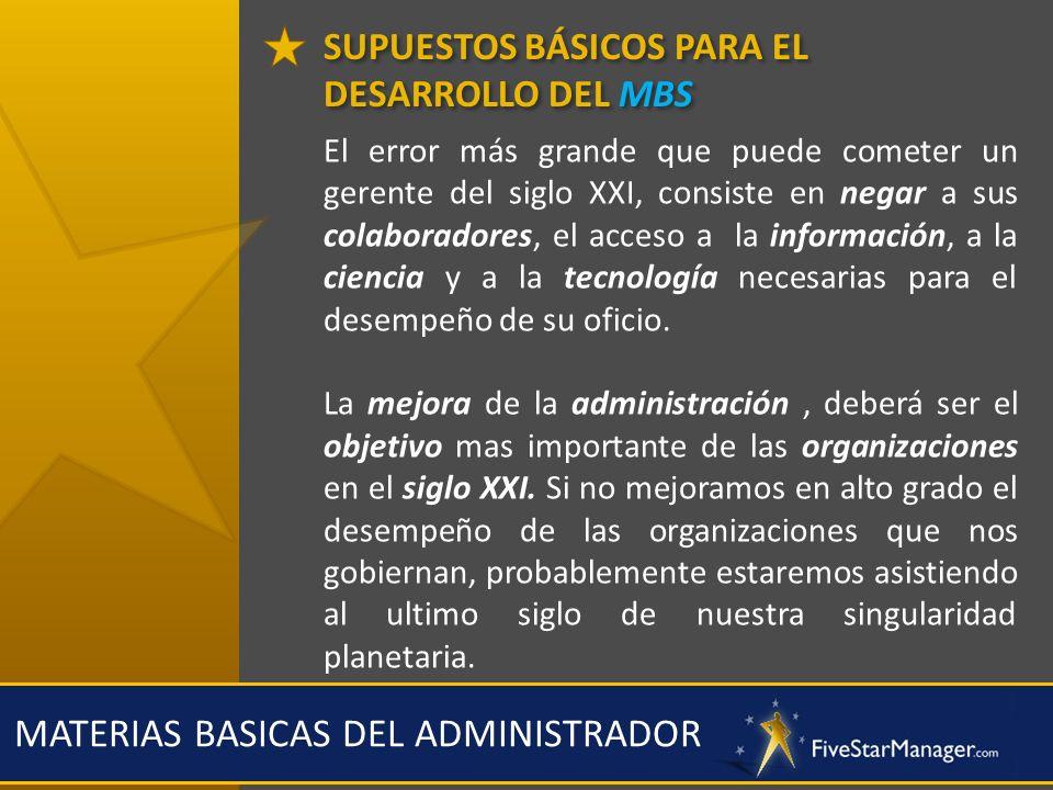 MATERIAS BASICAS DEL ADMINISTRADOR