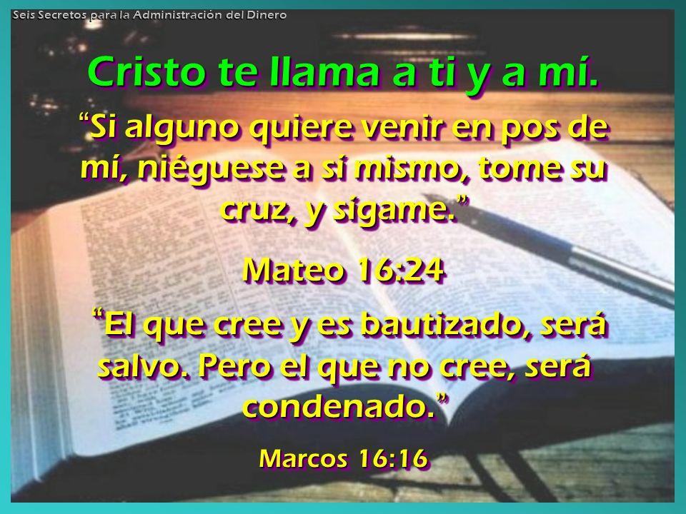 Cristo te llama a ti y a mí.