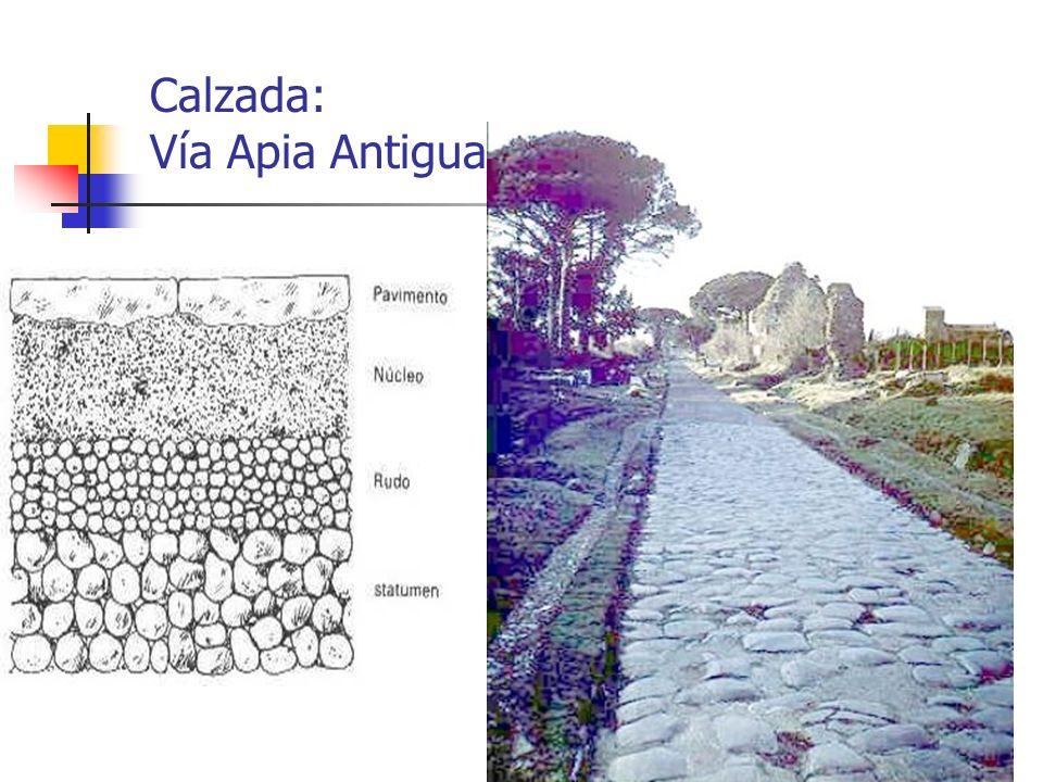 Calzada: Vía Apia Antigua