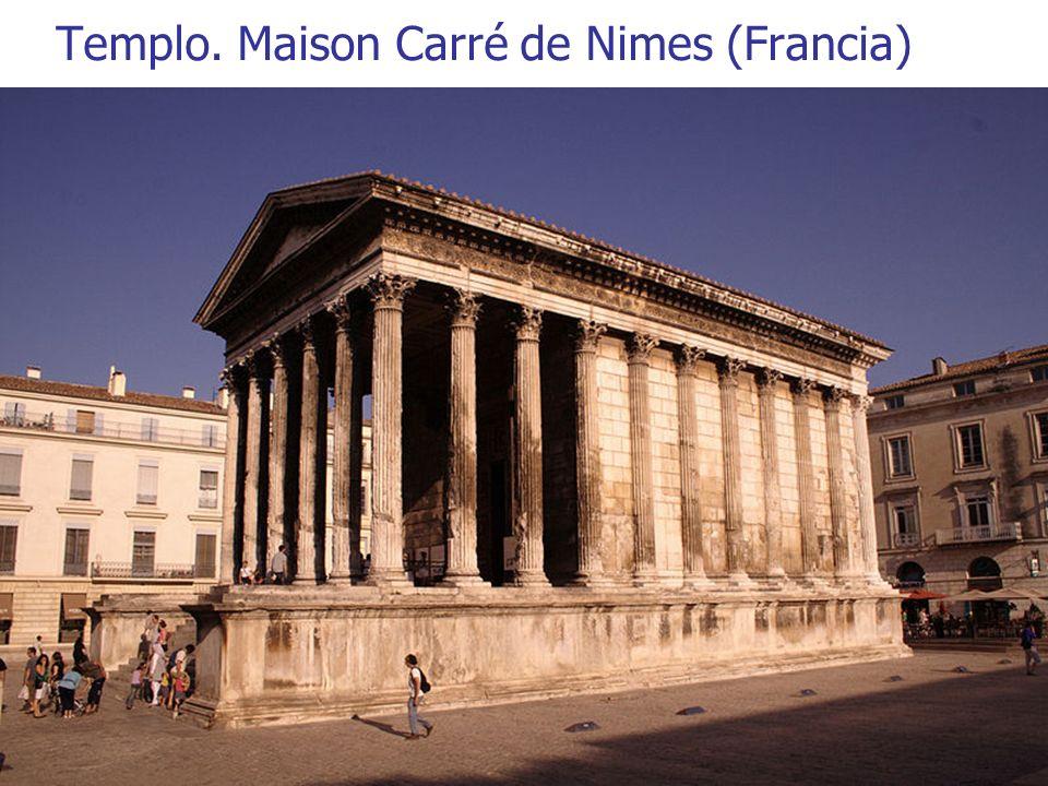 Templo. Maison Carré de Nimes (Francia)